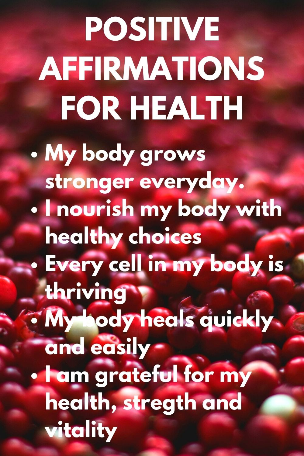 positive affirmation for health