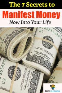 manifesting money quickly