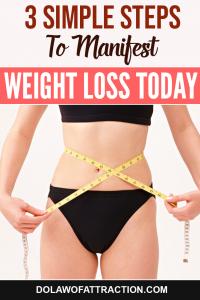 manifesting weight loss