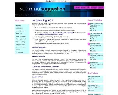 Subliminal Idea – Use The Power Of Subliminal s Today