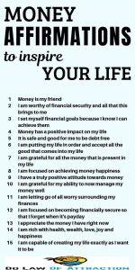 powerful money affirmations