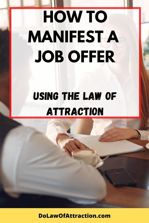 manifest a job offer