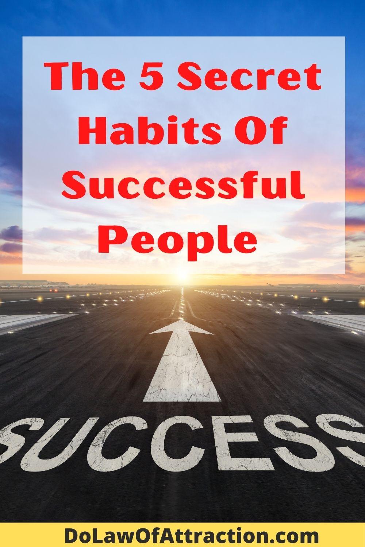the secrets habits of successful people