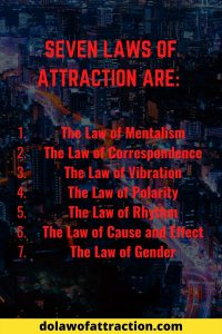 the seven laws of attraction